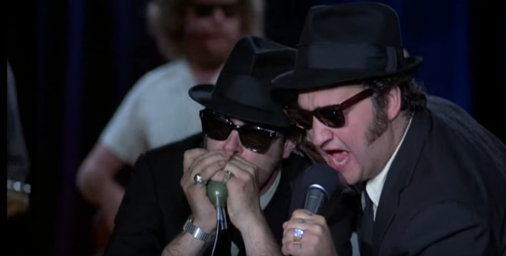 "63047f4e86 1) Occhiali dei Blues Brothers nel film ""The Blues Brothers"""